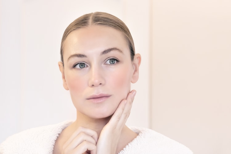 woman with natural beauty and youthful skin